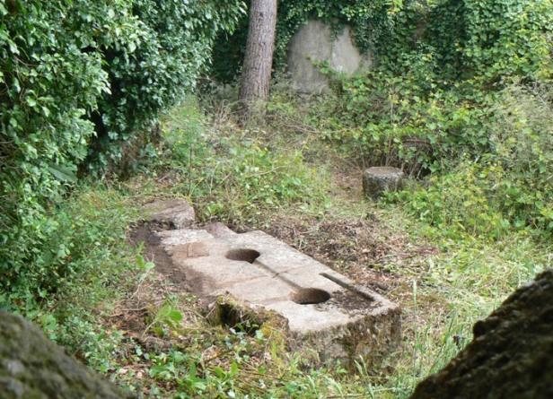Vestígios de antigo lagar de azeite do Carvalhal