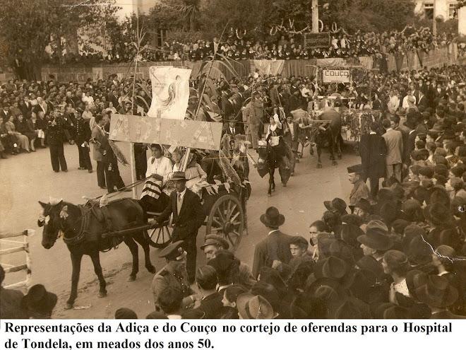 A freguesia de Mouraz num cortejo em Tondela (anos 50)