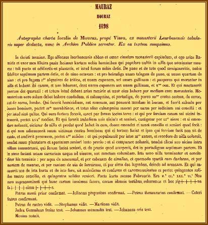O PRIMEIRO FORAL DE MOURAZ (1198)