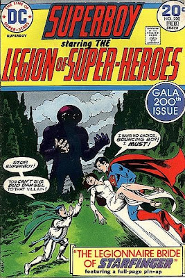 Superboy and the Legion of Super-Heroes #200, Bouncing Boy marries Duo Damsel, cover