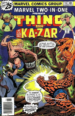 Marvel Two-in-One #16, the Thing and Ka-Zar, cover