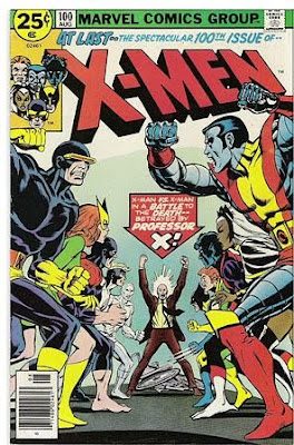 X-Men #100, Original X-Men vs New, cover