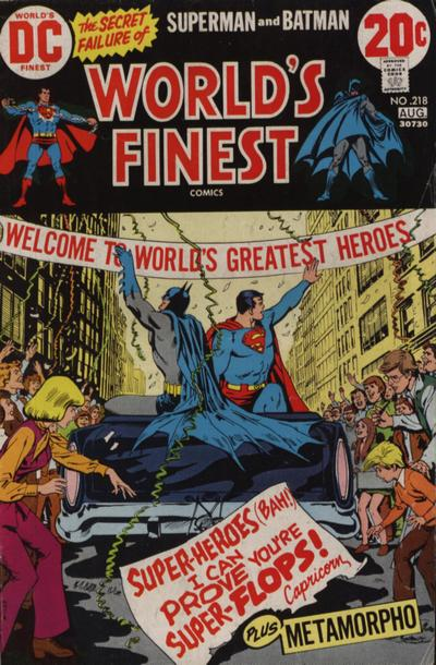 World's Finest, cover, Superman and Batman vs Capricorn