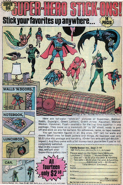 1970s DC super-hero stickers