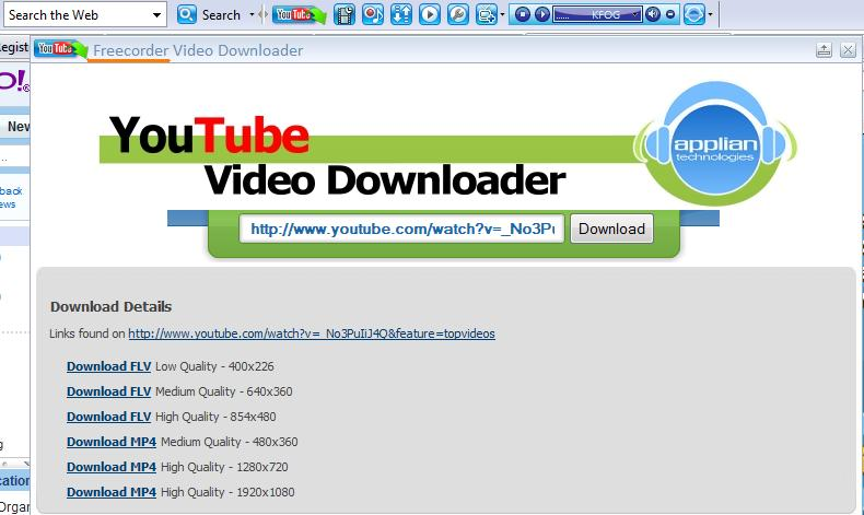 Freecorder 4 - Download Youtube Videos, Record Love Songs