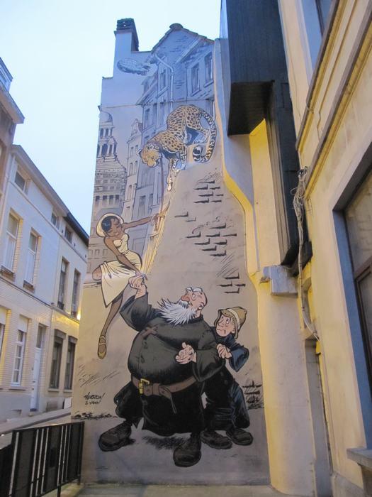 Los Murales Del Comic En Bruselas