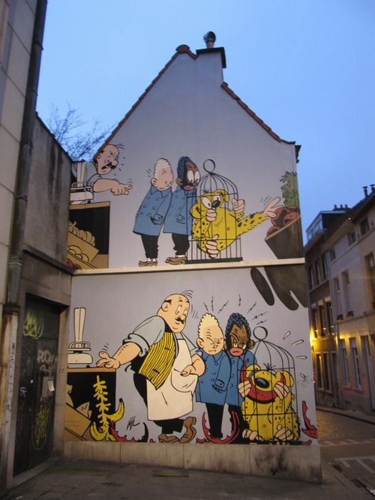 Mural Jijé - Blondin et Cirage