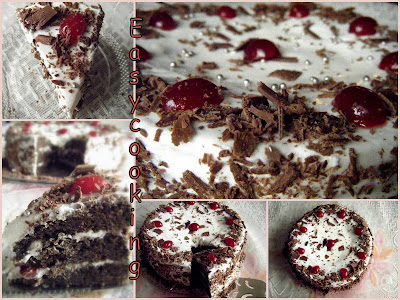 Eggless Black Forest Cake Recipe Without Oven