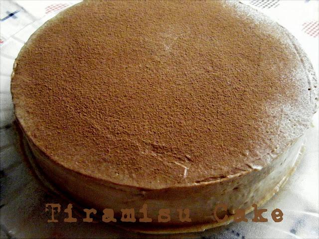 Eggless Tiramisu Cake Recipe