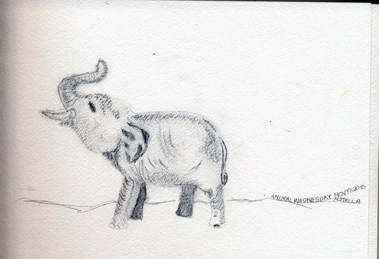 The gallery for --> African Elephant Drawing Trunk Up
