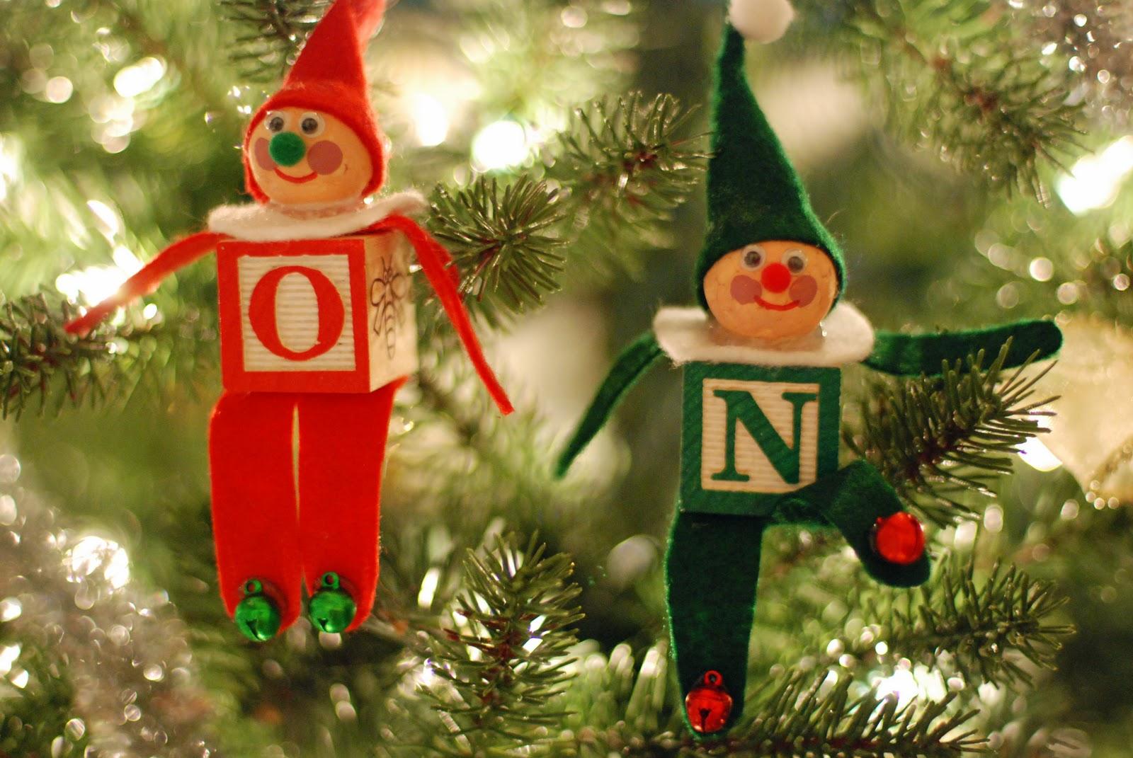 that artist woman how to make an alphabet block elf christmas ornament