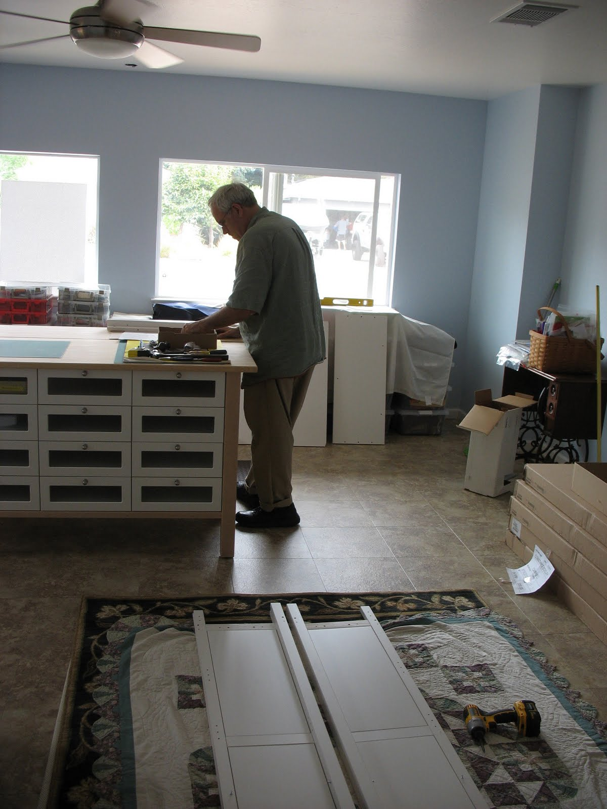 Connie's Crafts: Sewing Room Coming Along