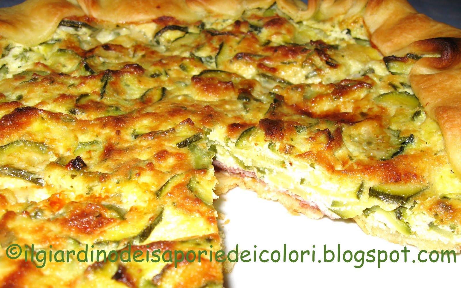 Ricetta per torta salata di zucchine