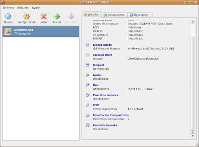 Configuracion de VirtualBox
