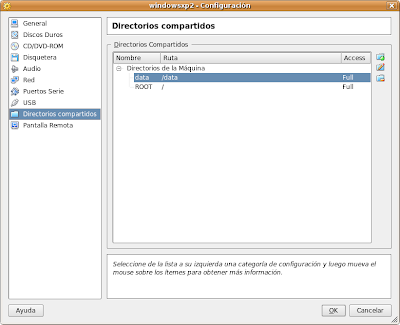 Directorios Compartidos en VirtualBox