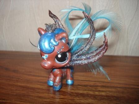 Petshop cheval bleu marron f rie solenn - Petshop cheval ...