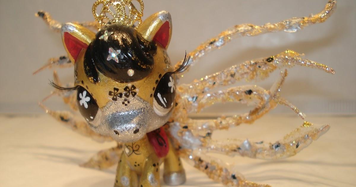 Petshop cheval or et argent clotilde - Petshop cheval ...