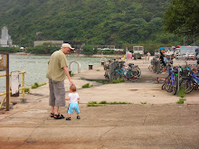 Stephen and Keohi on the Mui Wo pier