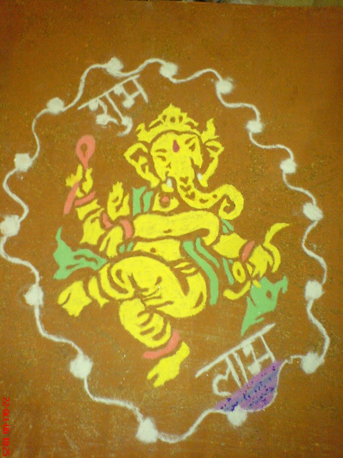 ganesha images for rangoli - photo #3