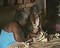 Women making tapa.