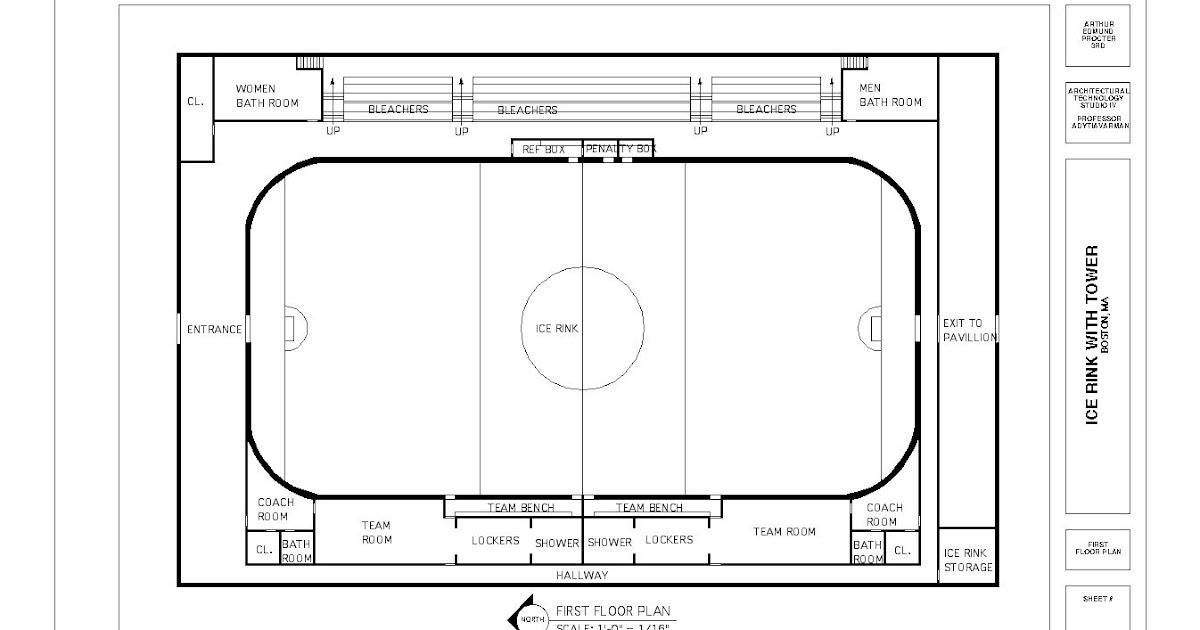 roller skating rink floor plans college 2005 ice rink ...