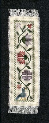 Prairie Schooler bookmark that I stitched