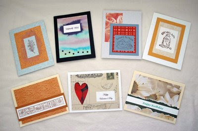 assortment of handmade cards