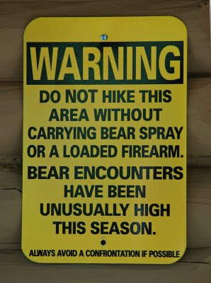 don't try to pet or feed the bears! GROWL!