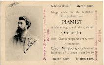 Pianist E. von Villebois aus Frankfurt