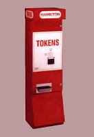 Lining up at the token dispenser . . .