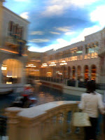 Blurry photo taken inside the Venetian