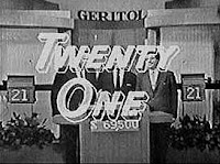 The TV quiz show 'Twenty One' (aired 1956-1958)