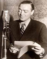 Peter Lorre performing an episode of 'Mystery in the Air' for NBC