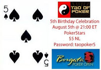 Tao of Poker 5th Birthday Celebration