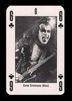 Gene Simmons playing card