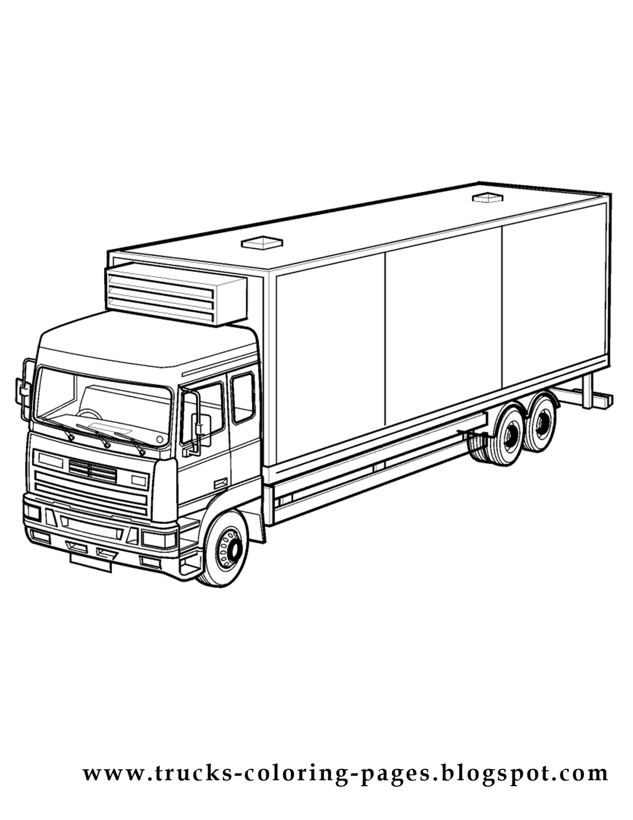semi truck coloring coloring pages
