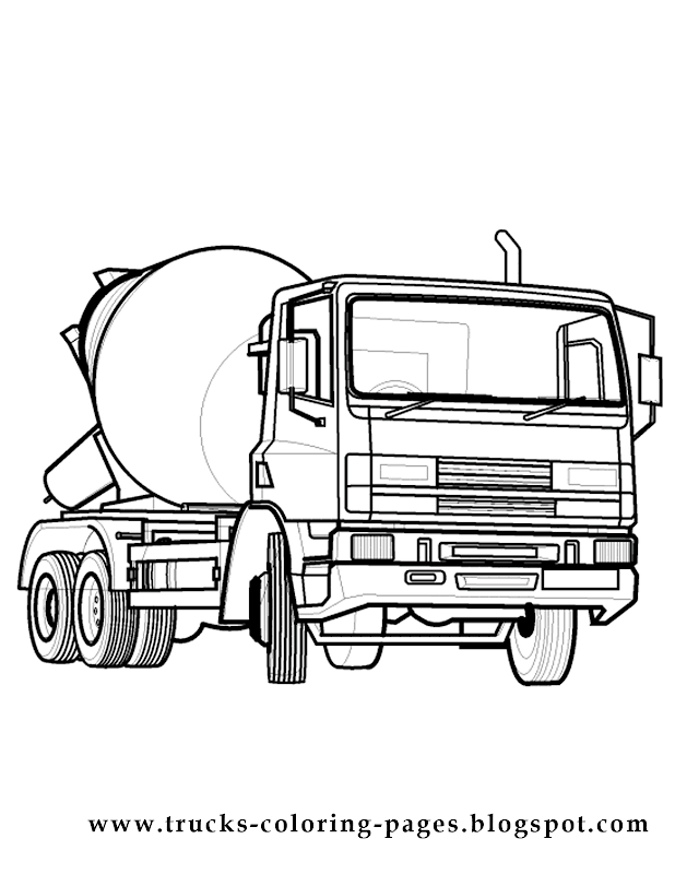 Car tire coloring pages 14 image for Garbage truck coloring page