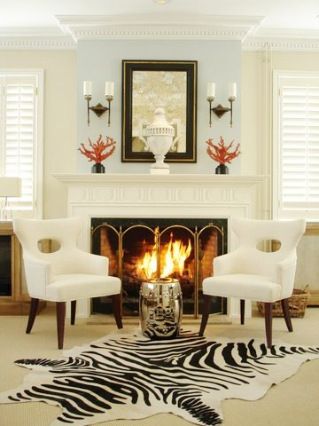 Living Room In Ron Van Empel Of Collections Home With Zebra Rug A