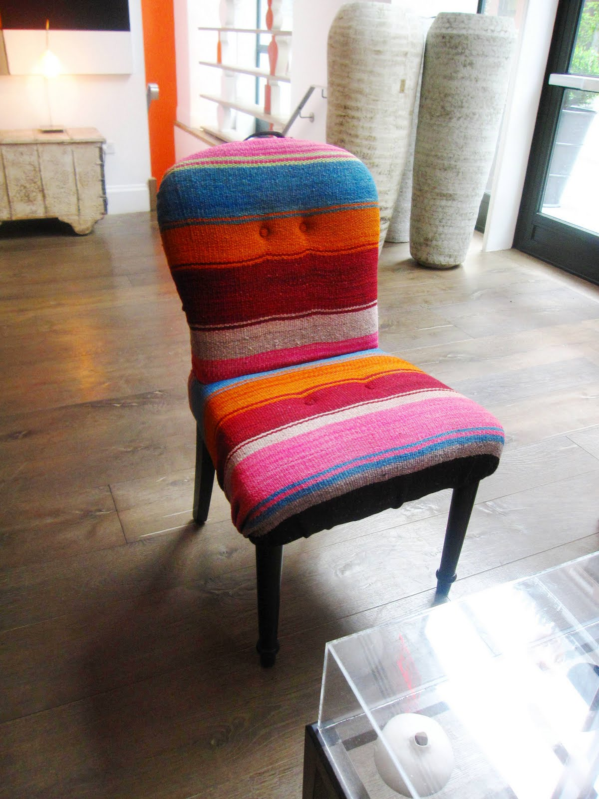 Design Idea A Colorful Mexican Blanket Covered Chair