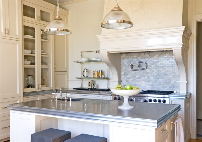 Cream cupboard colour At Home Arkansas - Black Kitchen Cabinets And Cream Floor Tiles