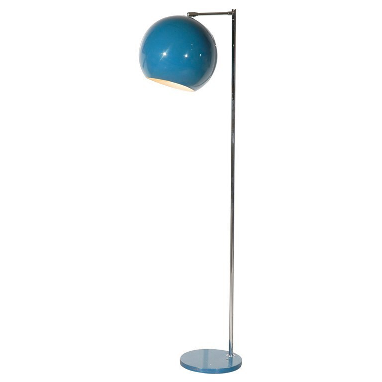 Blue vintage enamel floor lamp from NK Shop