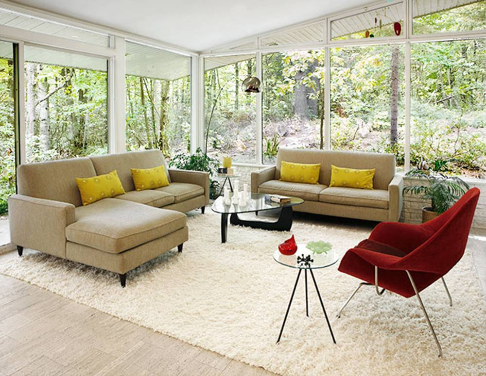 Mid century modern floor plans unique house plans - Mid century modern rug ideas ...