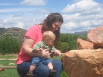 Mom and Evan on the rocks!  :)
