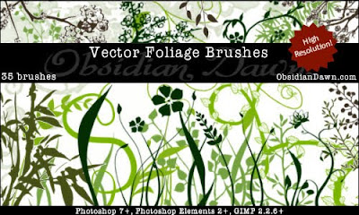 Vector Foliage-Plants Brushes