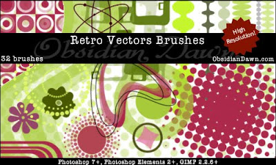 Retro Vectors Brushes