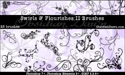 Swirls - Flourishes II Brushes