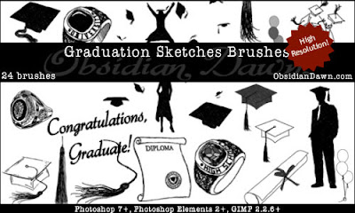 Graduation Sketches Brushes