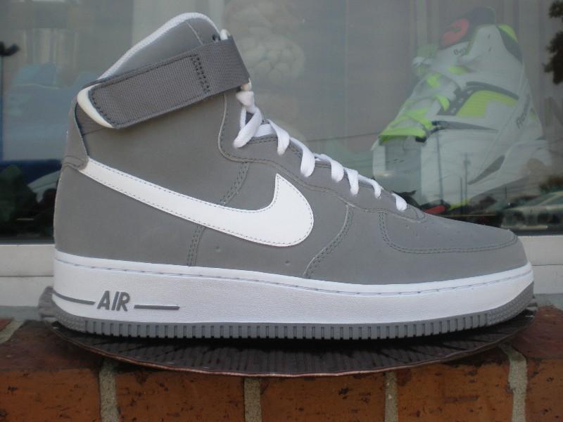 grey nike air force one high tops