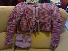 casaco/jaqueta em lã com bolsinha