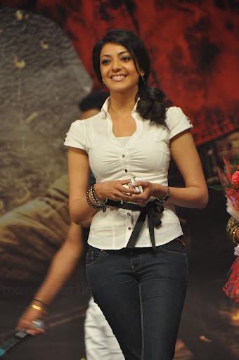 Kajal Agarwal In White Shirt Amp Black Jeans Cute Pics